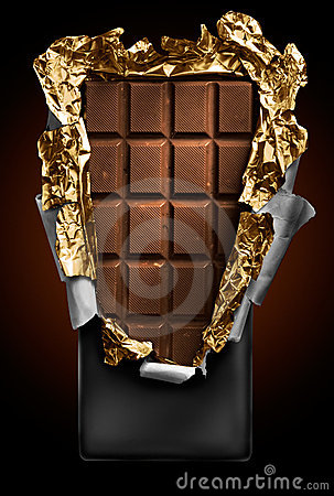 Free Chocolate In Bar With Open Cover Royalty Free Stock Photography - 8817567