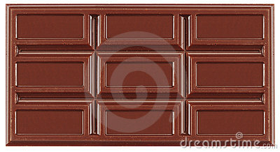 Chocolate. Isolated