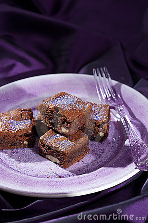 Chocolate lavender brownies