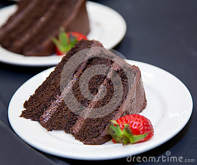 Chocolate Layer Cake - slice