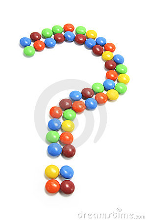Chocolate Lollies Arranged In Question Mark Royalty Free ... Smarties Candy Money