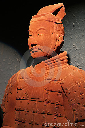 Chocolate-made terra-cotta warrior Editorial Stock Image