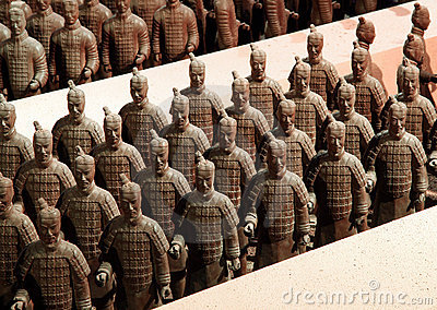 Chocolate-made terra-cotta warriors Editorial Photo