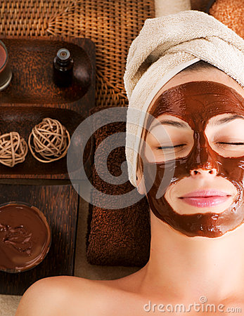 Free Chocolate Mask Facial Spa Stock Photography - 26467172