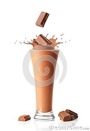 Free Chocolate Milkshake Smoothie Royalty Free Stock Image - 15970736