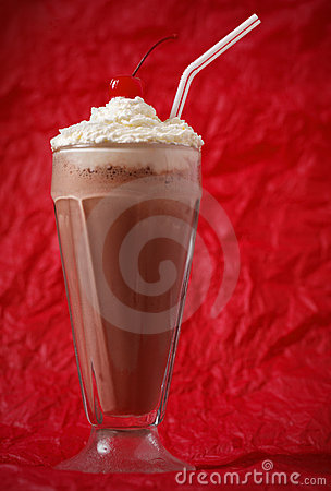 Chocolate milkshake with whipped