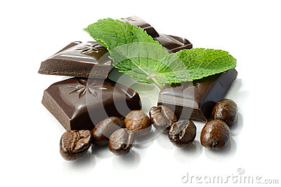 Chocolate, Mint and Coffee Beans