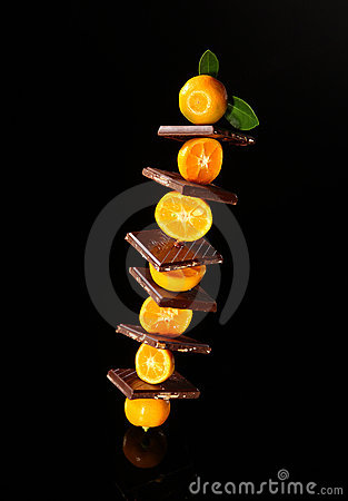 Chocolate with orange mandarin