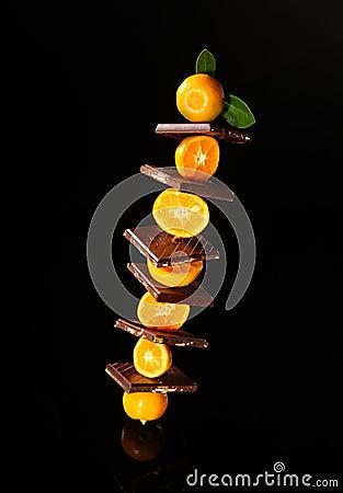 Chocolate with orange mandarin