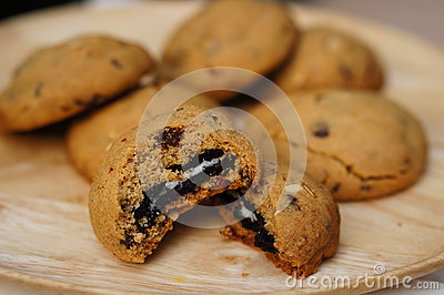Chocolate Overload Cookies Stock Photo - Image: 58967517