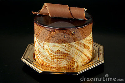 Chocolate Pastry on black background