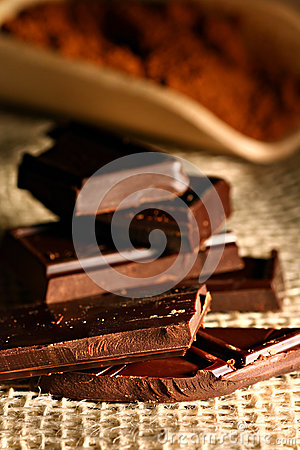 Chocolate in pieces