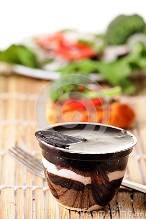 Chocolate pudding desert