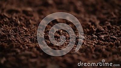 chocolate rallado almacen de metraje de vídeo