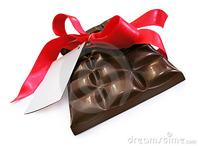 Chocolate with red ribbon - St