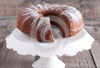 Chocolate And Red Wine Ring Cake Royalty Free Stock Photography ...
