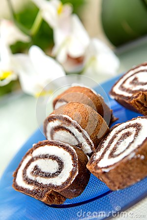 Free Chocolate Roulade Royalty Free Stock Images - 26260029