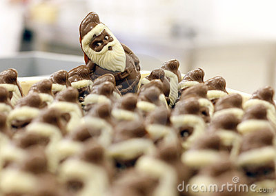 Chocolate Santa Claus for Christmas Editorial Photo
