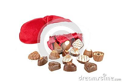 Chocolate and santa hat