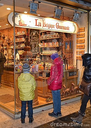 Chocolate shop Editorial Photo