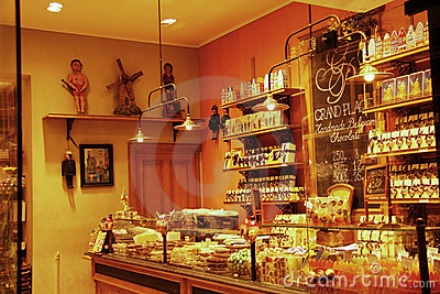 Chocolate shop in Brussels (Belgium) Editorial Stock Image