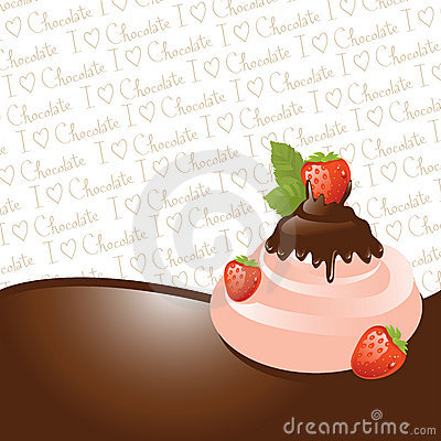 Chocolate and strawberry ice-cream