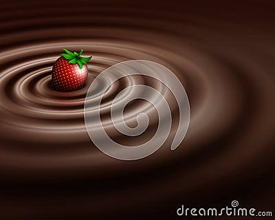 Chocolate swirl whit strawberry