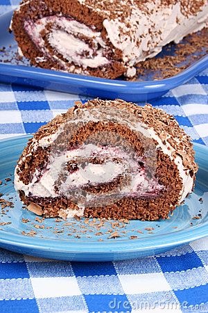 Free Chocolate Swiss Roll Cake Royalty Free Stock Photos - 33278138