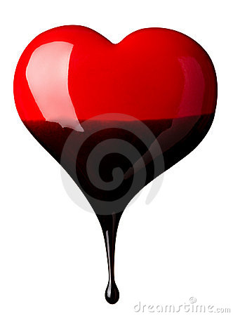 Free Chocolate Syrup Leaking On Heart Shape Royalty Free Stock Photography - 19853757