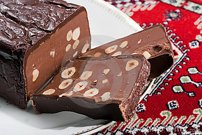 Chocolate Torrone Candy Block