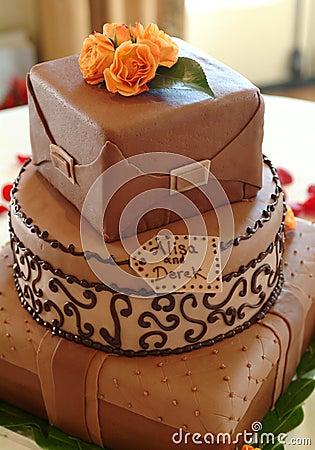 Free Chocolate Wedding Cake Stock Photos - 2562553