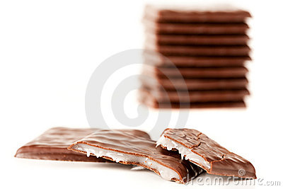 Chocolate with white cream filling