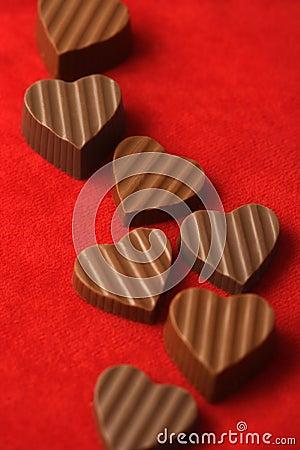 Chocolates del día de tarjetas del día de San Valentín