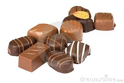 Chocolates isolated