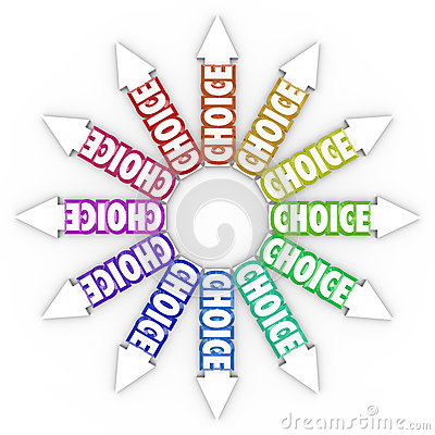 Choice Arrows Different Choices Opportunities Uncertainty