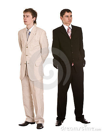 Choice of two businessmen.Concept.