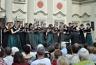 Choir concert Editorial Stock Image