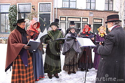 Choir In Middle Aged Clothes Royalty Free Stock Images - Image: 17488829
