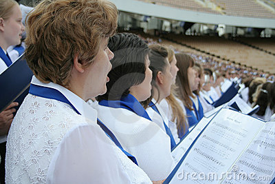 Choir singing Editorial Stock Image