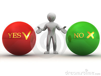 Choise YES or NO