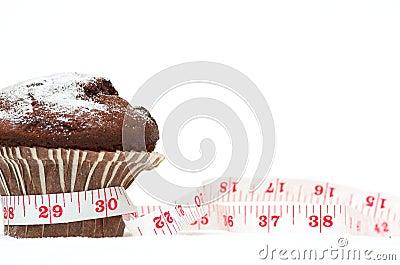 Choklad bantar muffinen