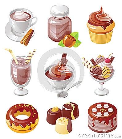 Free Chokolate Icon Set Stock Photos - 11523603