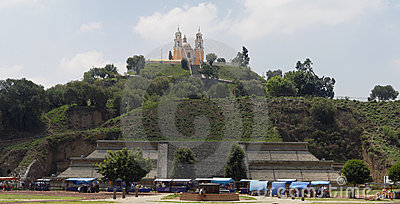 Cholula Church and Pyramid Mexico