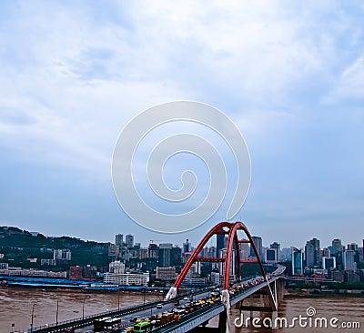 Free Chongqing Caiyuanba Yangtze River Bridge Royalty Free Stock Photography - 32650997