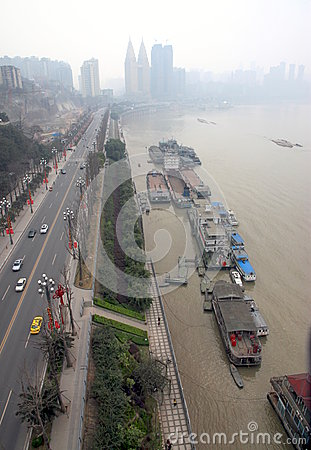 Chongqing Cityscape Editorial Stock Image