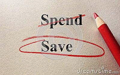 spend or save money essay