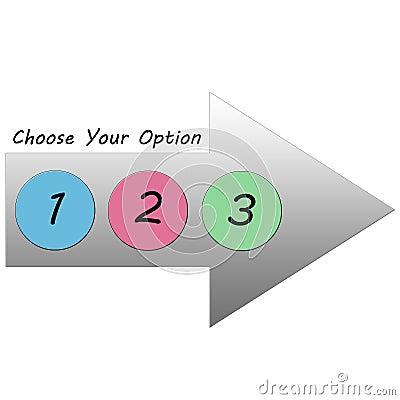Choose Your Option Arrow 123