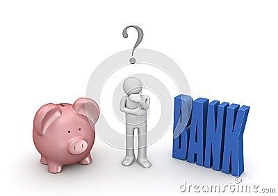 Choosing bank or piggybank