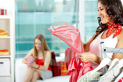 Choosing dress for party