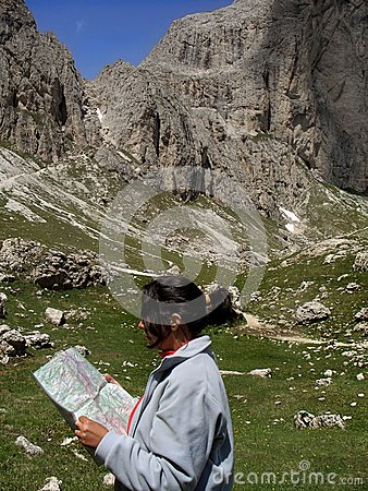 Free Choosing Mountain Route Stock Images - 38448324